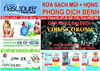 Khuyến mãi: Ngăn ngừa bệnh dịch tại Nasopure Showroom:222 Sư Vạn Hạnh P2 Q10, Tp.HCM