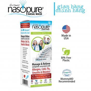 20 Muối rửa mũi cao cấp Nasopure/ USA Personal Refill Kit