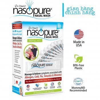40 Muối rửa mũi xoang cao cấp Nasopure/ USA Refill Kit