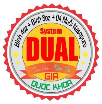 Dual System - Bộ đôi rửa mũi xoang Nasopure