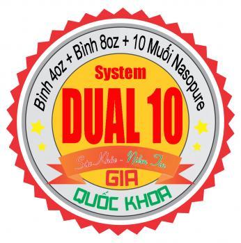 Dual 10 System - Bộ đôi rửa mũi xoang Nasopure kèm 10 muối