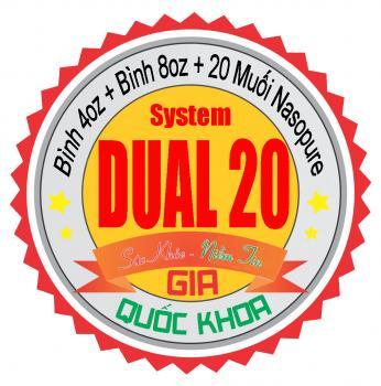 Dual 20 System - Bộ đôi rửa mũi xoang Nasopure kèm 20 muối